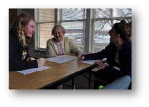 Quest III students at Oshkosh Senior Center