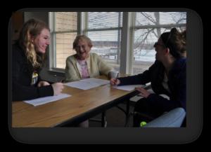 Quest III students at Oshkosh Senior Center