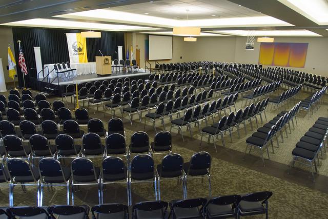 ballroom chair setup