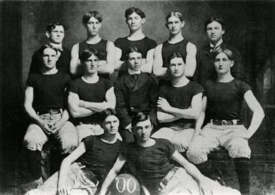 1900: The first UW Oshkosh football team.